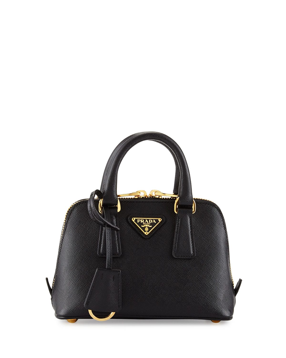 Prada Black Saffiano Mini Promenade Bag