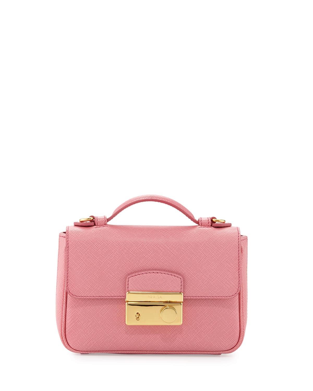 173989115b0f3 Prada Fuchsia Saffiano Mini Crossbody Clutch Bag