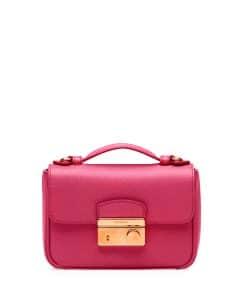 Prada Pink Saffiano Mini Crossbody Clutch Bag