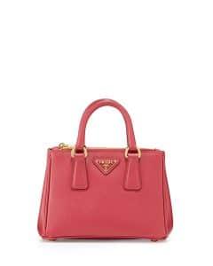 Prada Pink Saffiano Mini Galleria Crossbody Bag