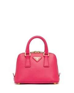 Prada Pink Saffiano Mini Promenade Bag