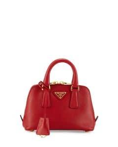 Prada Red Saffiano Mini Promenade Bag