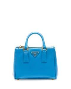 Prada Turquoise Saffiano Mini Galleria Crossbody Bag