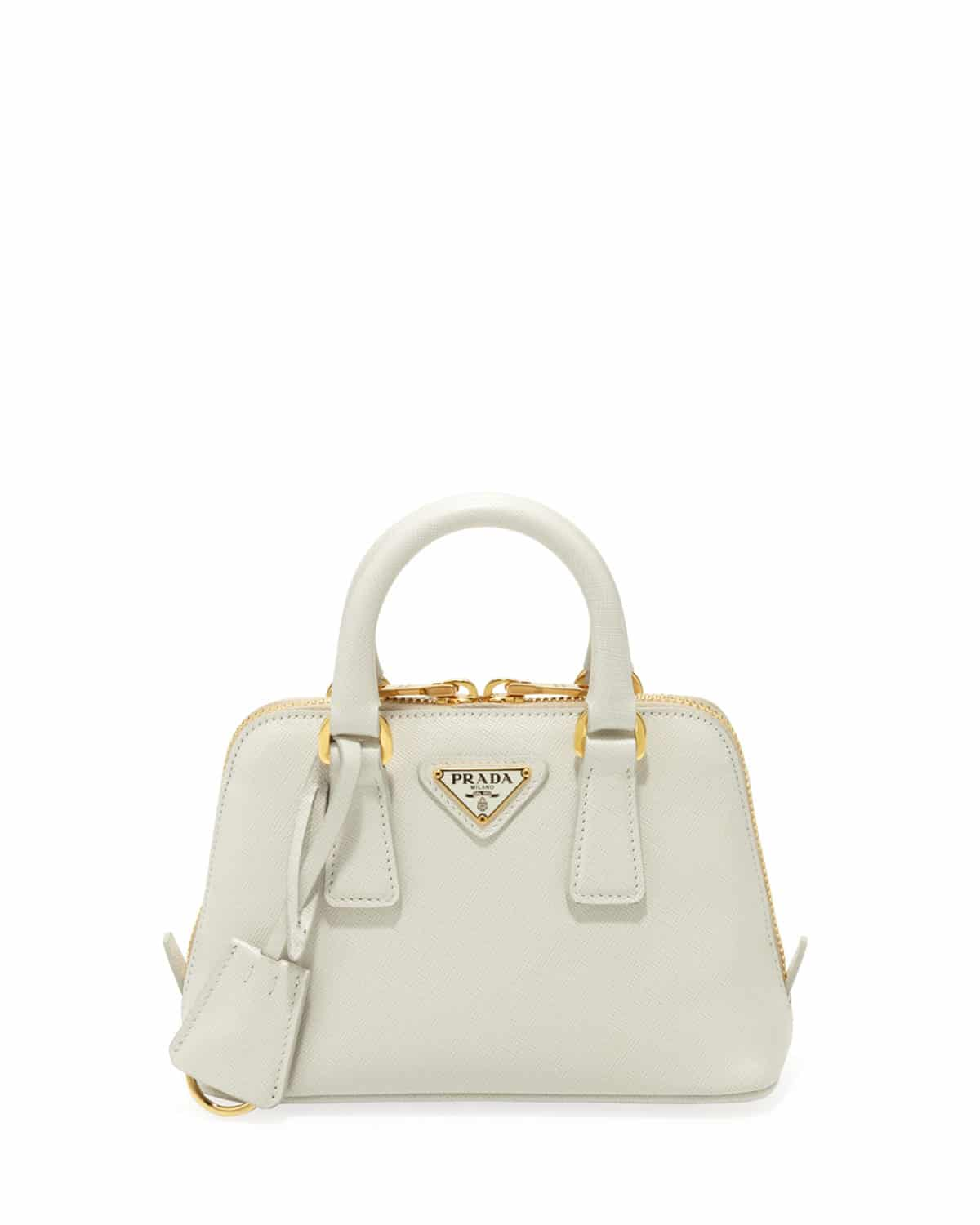 efed3b775a51 ... aliexpress prada white saffiano mini promenade bag 1fb25 bc461