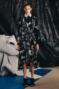 Proenza Schouler Black Floral Print Dress - Pre-Fall 2015