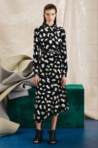 Proenza Schouler Black Printed Top and Skirt - Pre-Fall 2015