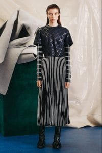 Proenza Schouler Black and White Pleated Skirt - Pre-Fall 2015