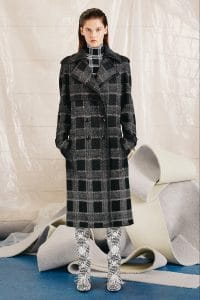 Proenza Schouler Grey Plaid Coat - Pre-Fall 2015