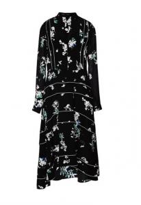 Proenza Schouler Printed Georgette A-Line Pleated Dress