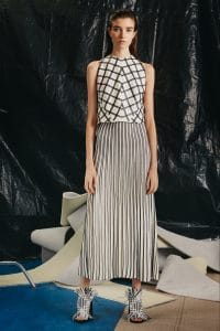 Proenza Schouler White and Black Pleated Skirt - Pre-Fall 2015