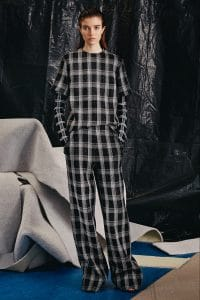 Proenza Schouler Black and White Plaid Top and Pants - Pre-Fall 2015