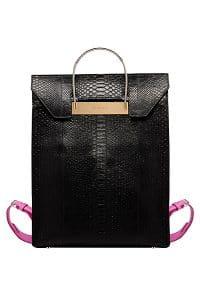 Balenciaga Black/Pink Python Cable Strap Backpack Bag