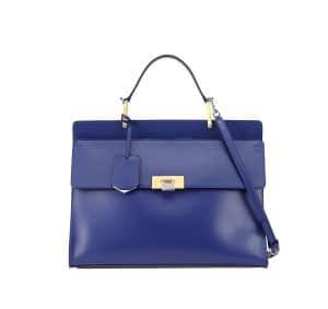 Balenciaga Blue Le Dix Zip Cartable Satchel Bag