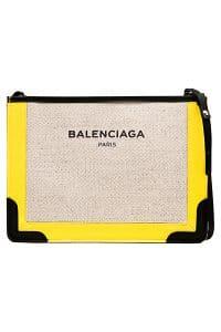 Balenciaga Natural/Black/Yellow Navy Pochette Bag