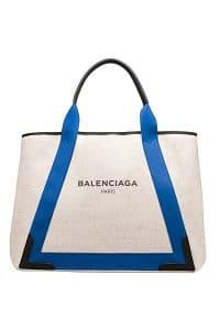 Balenciaga Natural/Blue Navy Cabas M Bag