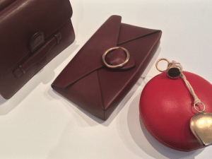 Celine Burgundy Bags and Red Round Bag - Spring 2015