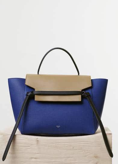 celine leather handbag belt