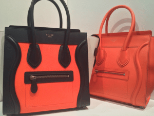 Celine Orange Mini Luggage Bags - Spring 2015