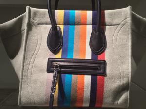 Celine Striped Canvas Mini Luggage Bag - Spring 2015