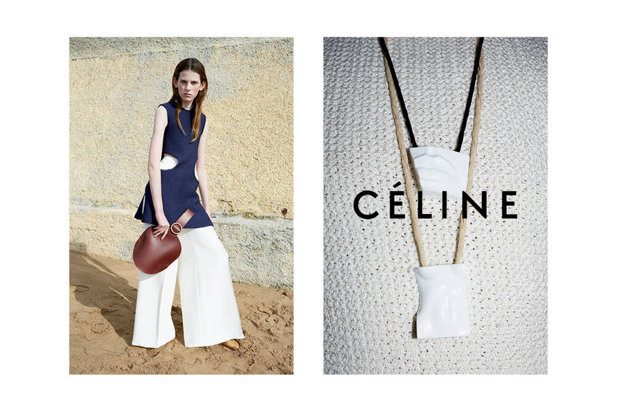celine summer 2015 ad campaign featuring new bell shaped bag
