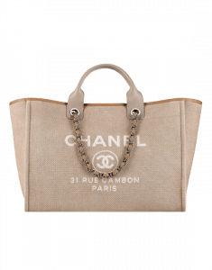 Chanel Beige Deauville Tote Large Bag - Spring 2015 Act 1