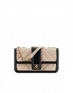 Chanel Beige/Black Flap Bag - Spring 2015 Act 1