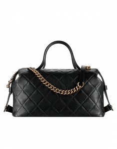 Chanel Black Bowling Bag - Spring 2015 Act 1
