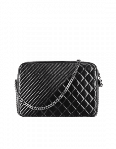 Chanel Black Coco Boy Camera Case Large Bag - Spring 2015 Act 1