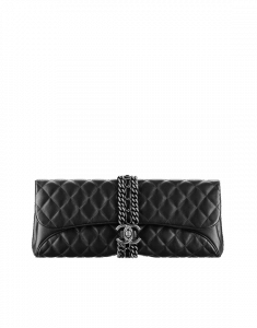 Chanel Black Evening Clutch with Chain Bag - Spring 2015 Act 1