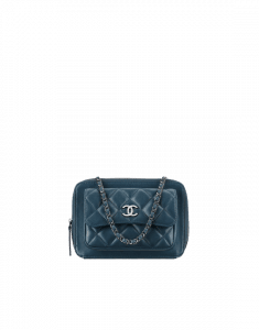 Chanel Blue Pocket Box Camera Case Small Bag - Spring 2015 Act 1