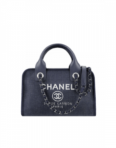 Chanel Blue Denim Deauville Bowling Bag - Spring 2015 Act 1