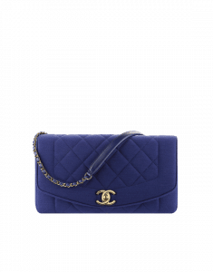 Chanel Blue Jersey Vintage Chic Flap Bag - Spring 2015 Act 1
