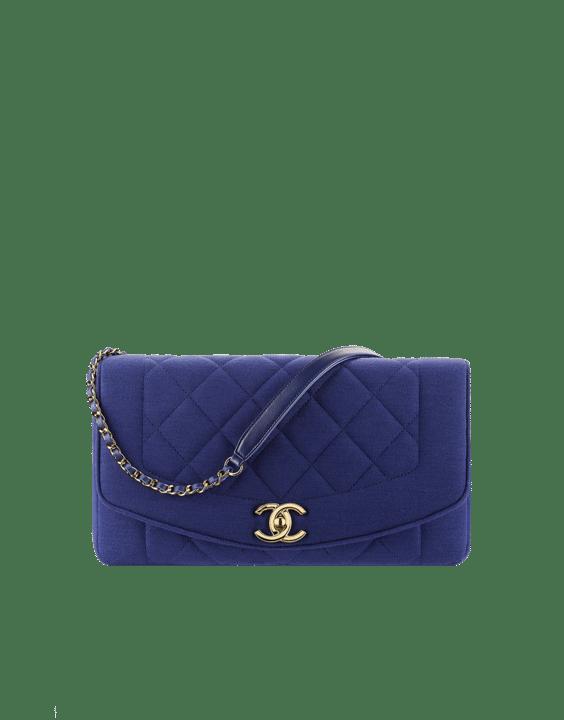 Vintage Chanel Bags Inside Chanel Blue Jersey Vintage