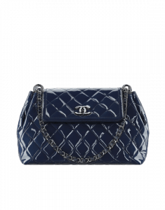 Chanel Blue Patent Coco Shine Large Bag - Spring 2015 Act 1