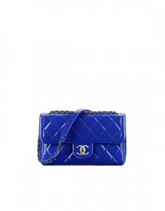 Chanel Blue Patent Flap Small Bag - Spring 2015 Act 1