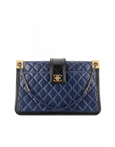 Chanel Blue Tote Large Bag - Spring 2015 Act 1