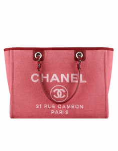Chanel Dark Pink Deauville Tote Bag - Spring 2015 Act 1