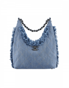 Chanel Denim Embellished with Fringe Hobo Bag - Spring 2015 Act 1