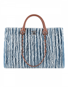 Chanel Denim Fringed Large Tote Bag - Spring 2015 Act 1