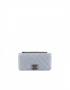 Chanel Grey Coco Boy Flap Mini Bag - Spring 2015 Act 1
