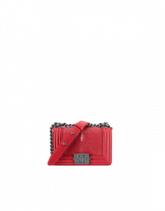 Chanel Red Galuchat Boy Flap Mini Bag - Spring 2015 Act 1