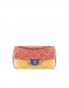 Chanel Red/Yellow/Green/Blue Jersey Flap Mini Bag - Spring 2015 Act 1