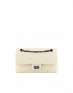 Chanel White Chanel 2.55 Reissue 225 Bag - Spring 2015 Act 1