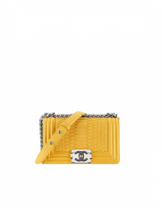 Chanel Yellow Python Boy Flap Small Bag - Spring 2015 Act 1