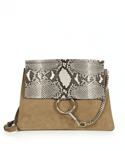 Chloe Desert Suede/Python Faye Medium Bag