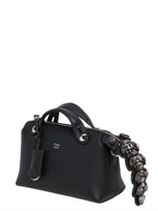 Fendi Black with Crystal Tail By The Way Mini Bag