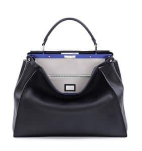 Fendi Black/White Peekaboo Large Bag