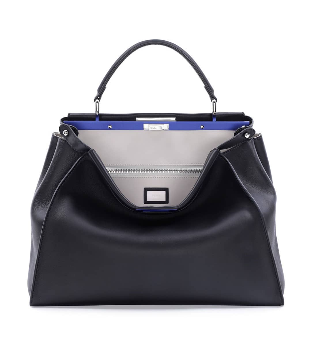 Fendi spring summer 2015 runway bag collection spotted fashion - Fendi Black White Peekaboo Large Bag