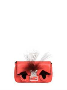 Fendi Coral Monster Baguette Micro Bag