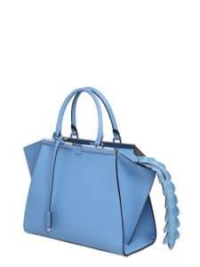 Fendi Light Blue with Croc Tail 3Jours Mini Bag